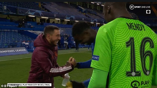 The Belgian was full of smiles and has irked the Madrid fanbase with his post-match laughter