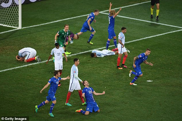 Devastated England players react following their shock last-16 defeat by Iceland in Nice