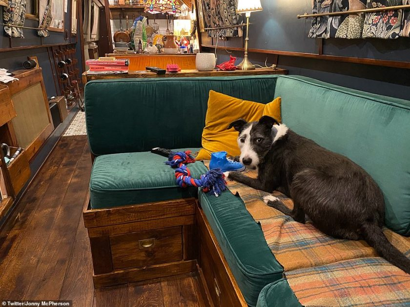 Cosy:The actor, 39, who plays Dr Liam Cavanagh on the ITV soap and is in a relationship with co-star Natalie J Robb, has been living on the 60ft narrowboat called Benedict for almost four years