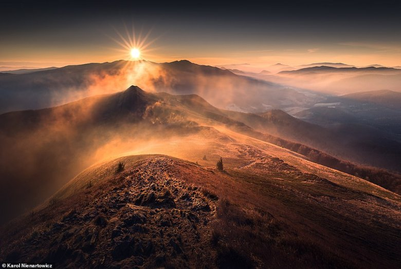 Karol snapped this jaw-dropping image in the Bieszczady Mountains, which run through the extreme south-east of Poland and into north-east Slovakia and are part of the wider Carpathian Mountains. It is a place that Karol often visits