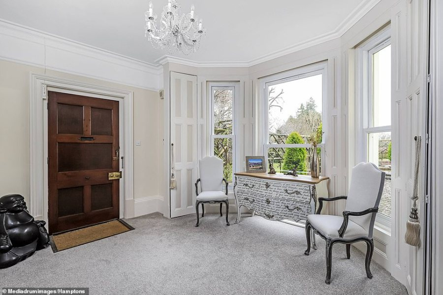 The couple selling the £3million home claim to have uncovered evidence that, when in Droxford, Churchill walked through its grounds with De Gaulle and General Eisenhower. Pictured: One of the bedrooms