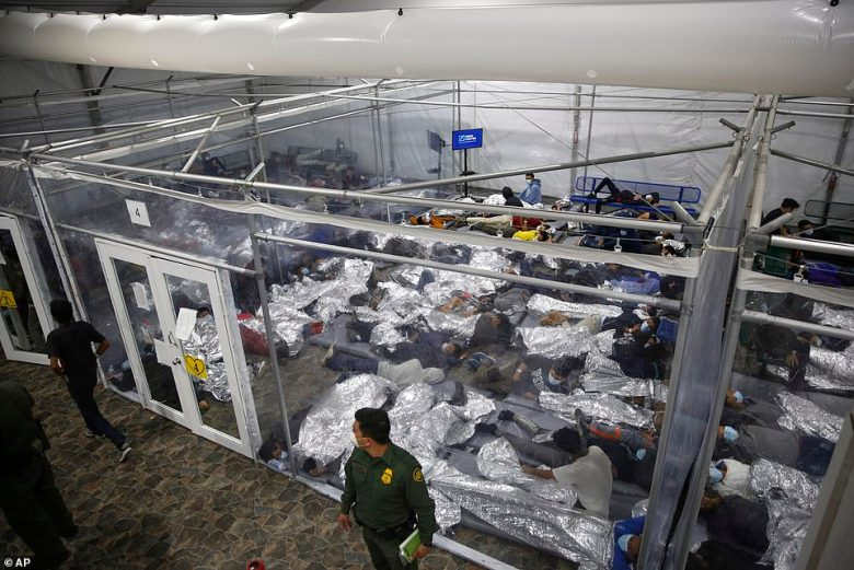 LAST MONTH: In this March 30, 2021, file photo young minors lie inside a pod at the Donna Department of Homeland Security holding facility, the main detention center for unaccompanied children in the Rio Grande Valley run by U.S. Customs and Border Protection (CBP), in Donna, Texas.