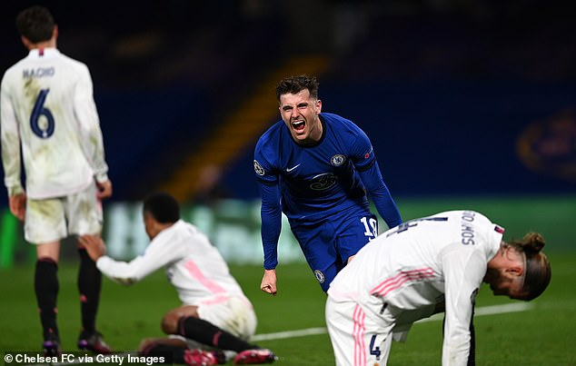 Mount scored the second goal to help Chelsea beat Real Madrid 2-0 on Wednesday night