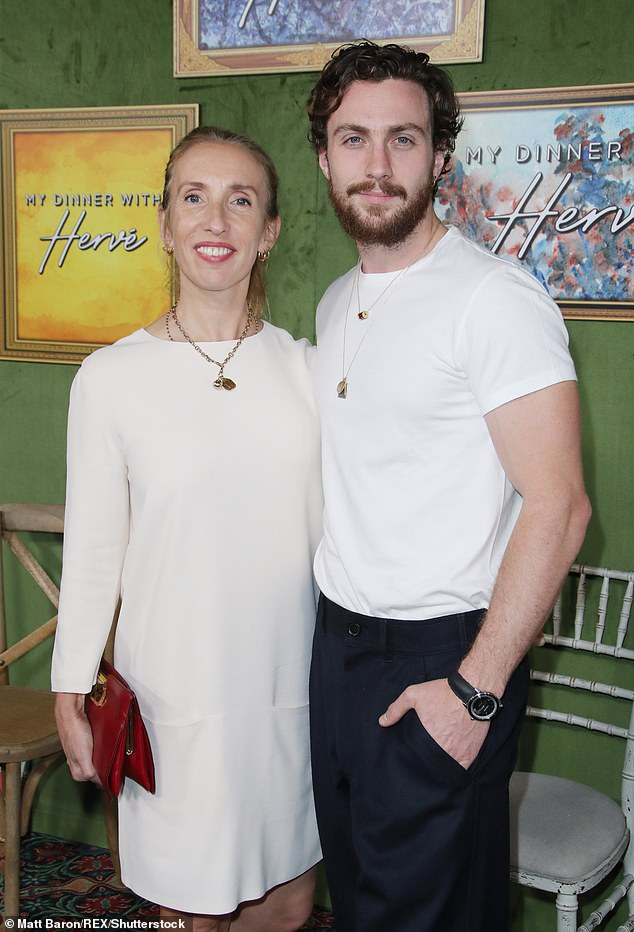 Love: Aaron and Sam met on the set of John Lennon's biopic Nowhere Boy, directed by Sam, when she was 42 and 18 (pictured together in 2018)