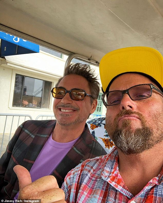 Inseparable: Downey Jr. and Rich are seen here together in August 2019