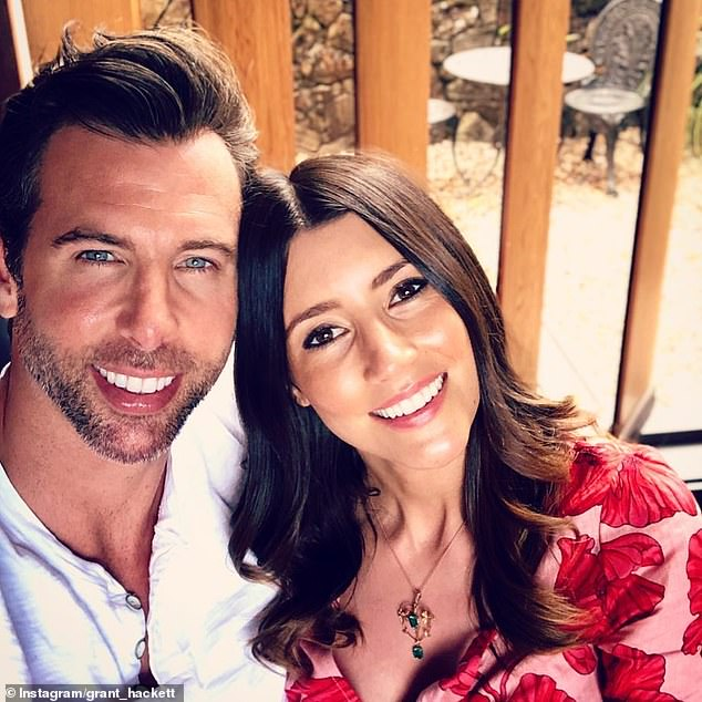 Record breaker: Grant Hackett, 40, [pictured with wife Sharlene Fletcher] sold his Gold Coast beachfront villa in just five days, well ahead of the May 30 auction date
