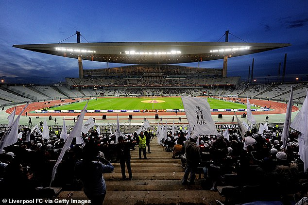 A total of 25,000 tickets - around a third of the Ataturk Stadium's (pictured) capacity - are expected to be made available, with 9,000 of these split between English fans of the two sides