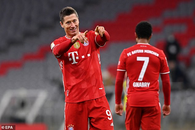 Lewandowski, 33, is a Bundesliga great with 36 goals in just 26 league games this season so far