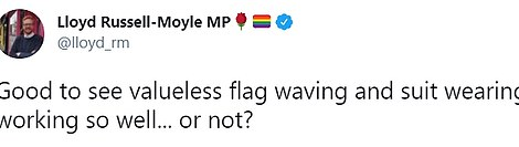 MP for Brighton Kemptown Lloyd Russell-Moyle took to Twitter to question his party's attempts to change its image