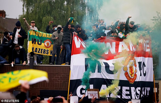 Thousands gathered to demonstrate against the Glazer family, who own Manchester United