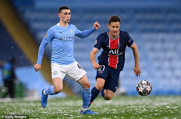 Phil Foden impressed during Manchester City's two-legged victory over Paris Saint-Germain