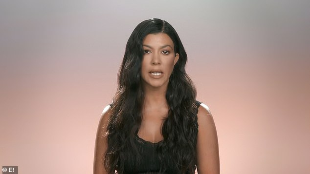 Over:In the scenes, she spoke to her mum Kris Jenner and sister Khloe, where she admitted she had a 'love-hate relationship' with the show, which she defiantly insisted would not have ended without a group decision being made