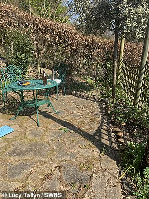 Thousands of Lucy's followers on Instagram page @lucys-hillside-house have been amazed and inspired by the incredible renovations. Pictured, Lucy's garden before the makeover