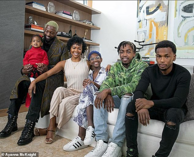 Blended family: The couple have daughter Zaya, 13, and Zaire, 19, from Dwyane's previous marriage, Wade's son with an ex, Xavier, seven, and Dahveon, 19, Dwyane's nephew, in addition to two-year-old daughter Kaavia