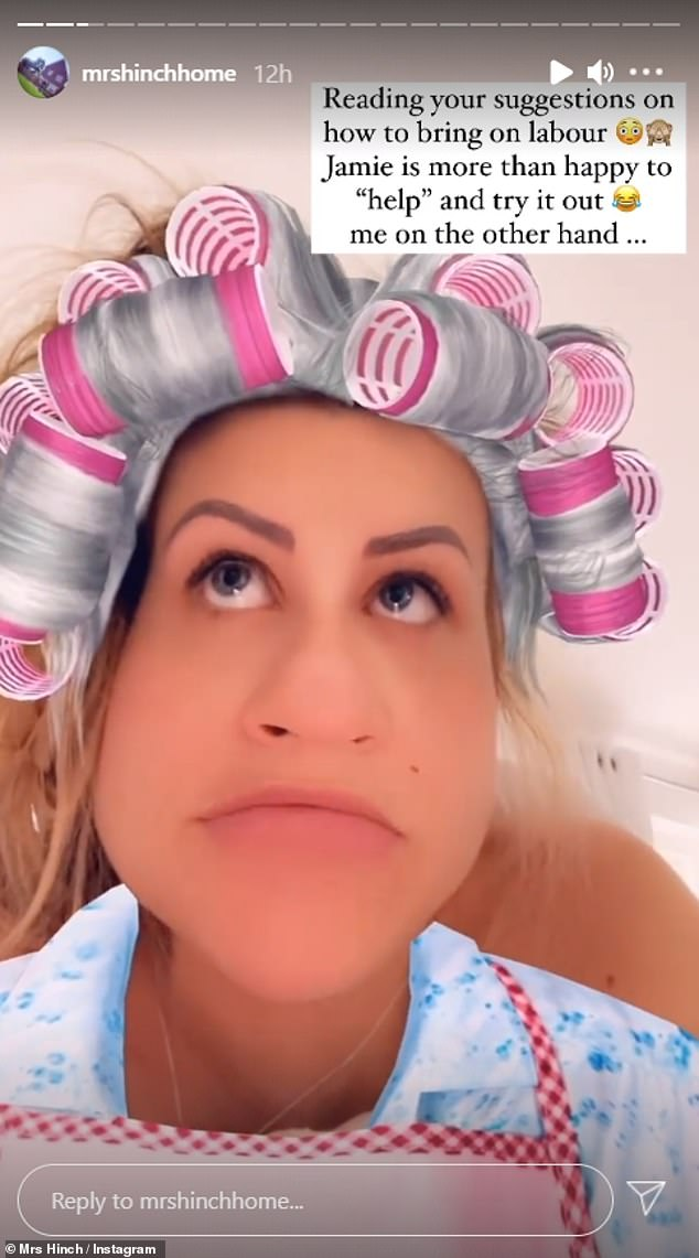 Suggestive: The cleaning guru, 30, then uploaded a hilarious video of herself complete with a filter of grey hair and curlers as she responded to her fans suggestions