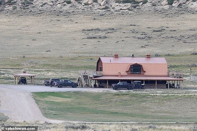 Out West: She claims she was not paid for overtime or meal breaks mandated by the State of California, nor was she reimbursed for cell phone, internet use or expenses associated with compulsory travel that was necessary to perform their duties.  The ranch in Western Wyoming is seen above