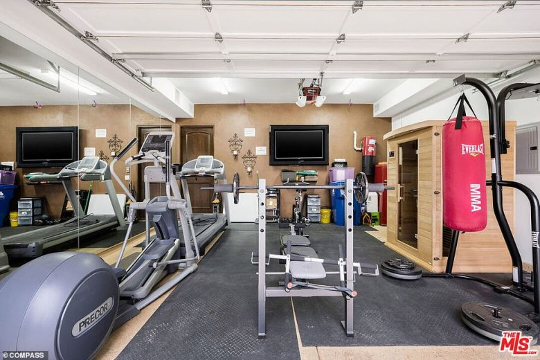 Get pumped: The property also boasts a home gym