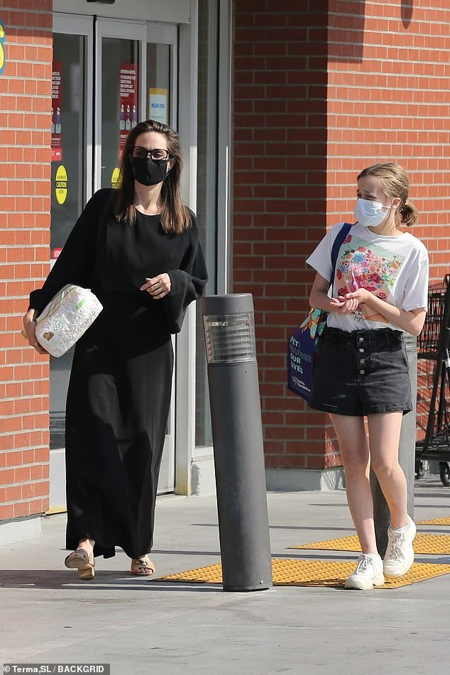 Just the girls!Angelina Jolie enjoyed some quality girl time with her daughter Vivienne in Los Angeles on Friday