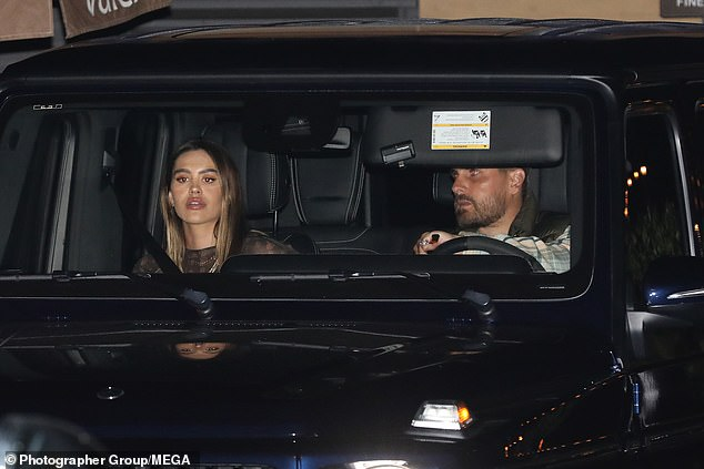 Turn heads: The KUWTK star entered Nobu in Malibu with his girlfriend of seven months, who was seen wearing a semi-sheer jumpsuit