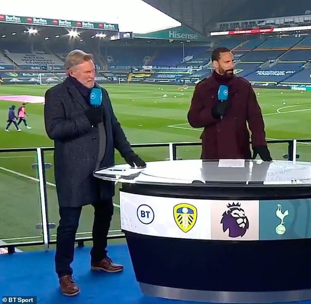 BT Sport pundits Glenn Hoddle (left) and Rio Ferdinand (right) fear for Leicester's position