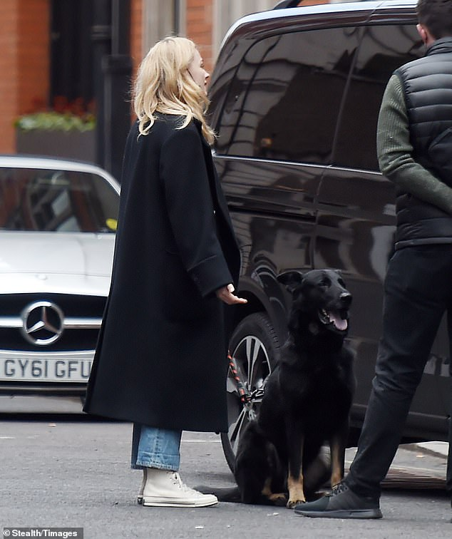 Conversation:The pair chatted for some time as her dog eagerly watched the gentleman