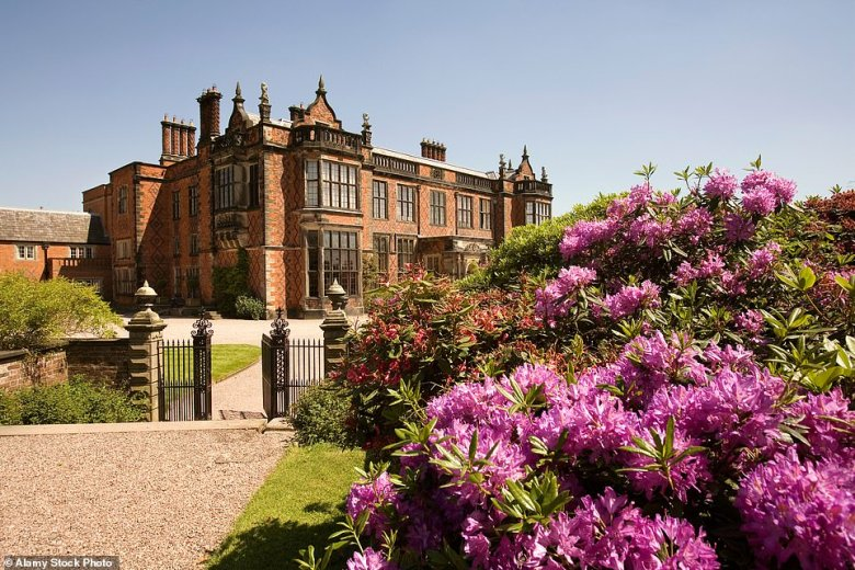 Arley Hall (pictured) near Northwich in Cheshire offersa smartly furnished cottage, Chapel House, which sleeps four
