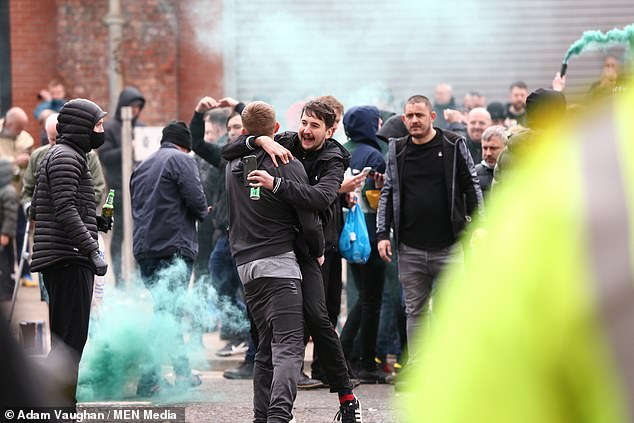 Fans targeted both United's Old Trafford ground and the Lowry Hotel they stay in pre-match