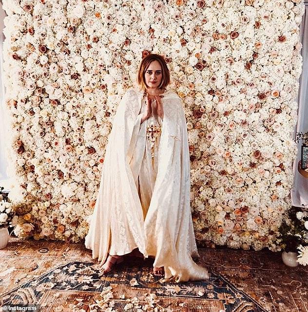 Wedding planner: Alan revealed Adele felt like 'Jennifer Lopez' from The Wedding Planner when she hosted her nuptials in her back garden (pictured in 2018)