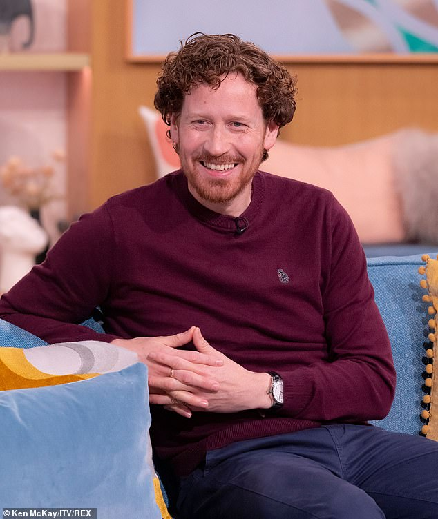 Hunky H!  Nigel Boyle has revealed he has become an unlikely idiot after he was unmasked as H in the series six finale last Sunday (pictured on Monday)