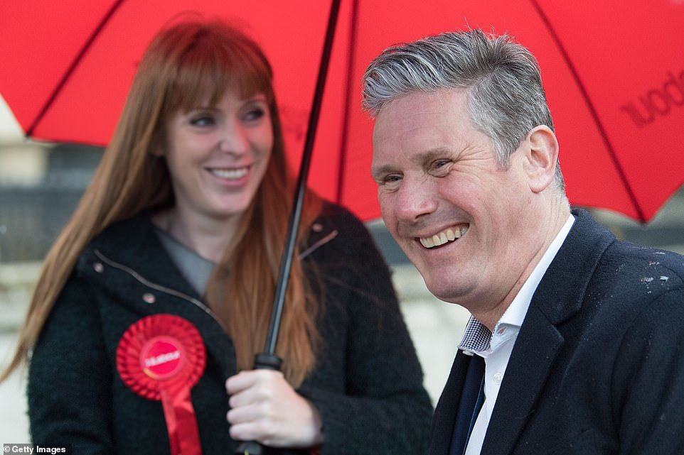 Keir Starmer dropped a bombshell last night by sacking Angela Rayner (pictured together last week) as Labour Party chairwoman - although because she is the elected deputy leader he does not have powers to axe her altogether