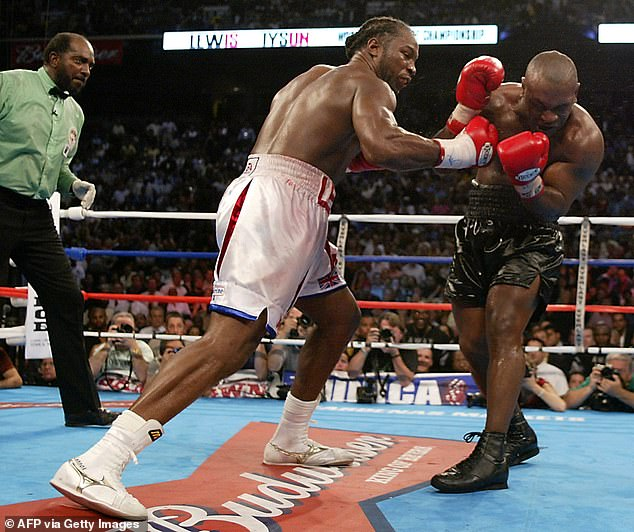 Lewis would have the last laugh and dished out a brutal beating over eight punishing rounds