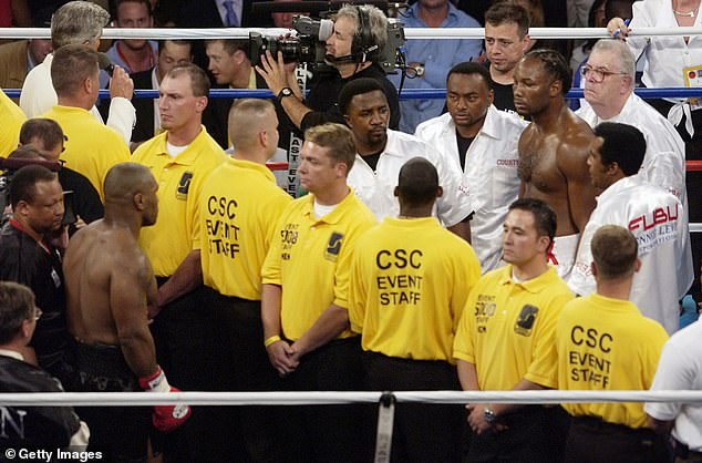 There was so much hostility in the lead-up that they were separated in the ring before the fight