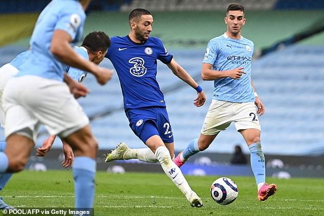 Morocco international Hakim Ziyech equalised for the west Londoners with a fine strike