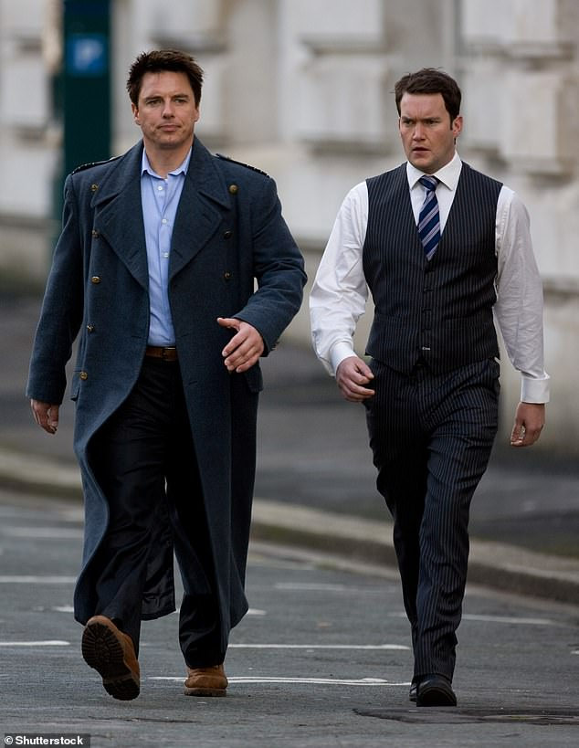 He said:'It maybe that because we were so close as a cast that professional lines were sometimes blurred in the excitement – I was too inexperienced to know any different but we were always laughing' (pictured together in Torchwood, 2008)