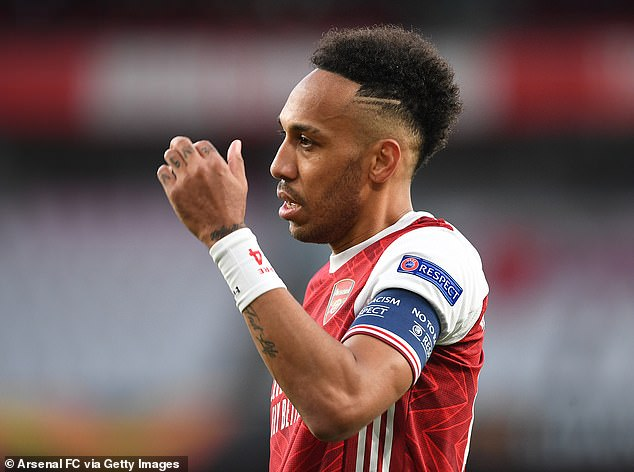Pierre-Emerick Aubameyang has written to fans after Arsenal's miserable European exit