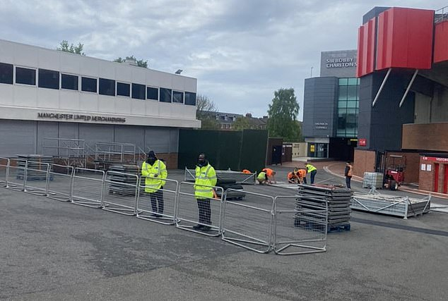 Staff will hope they can avoid a repeat of protestors breaking barriers to reach the pitch again