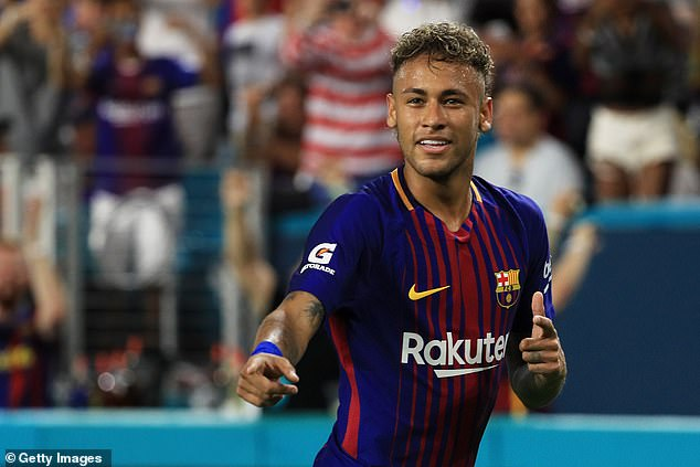 Neymar won two La Liga titles and the Champions League during his time with Barcelona