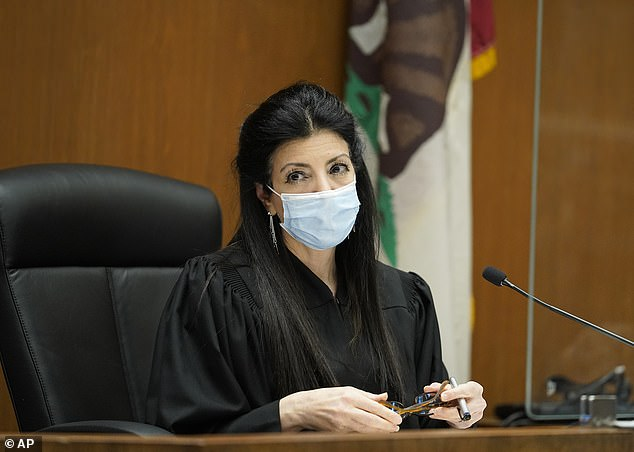 New case: The four men and one woman pleaded not guilty earlier this month before Judge Victoria Wilson (pictured) presiding over Los Angeles Superior Court