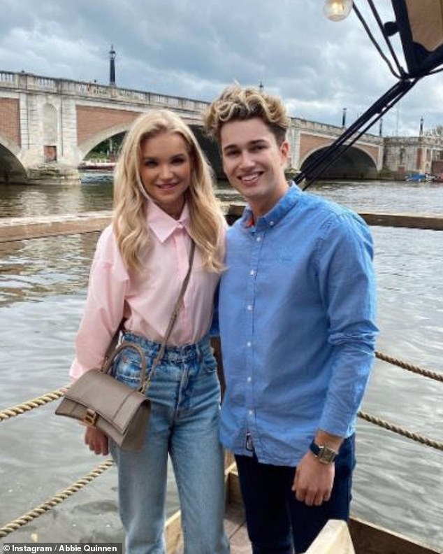 'You've been so strong': Abbie Quinnen celebrated her 24th birthday with boyfriend AJ Pritchard on Sunday as she continues to recover from third degree burns in accident