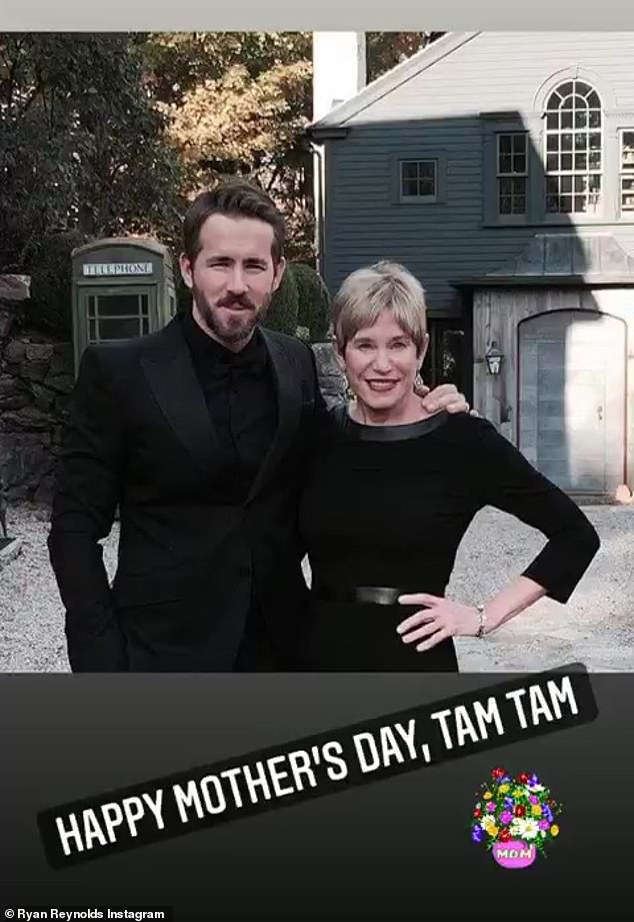 Message for mom: The Canadian movie star also paid tribute to her own mother Tammy with a series of slides on her Instagram stories