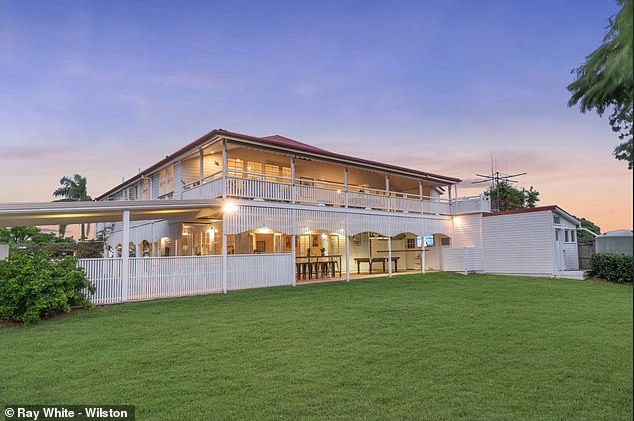 Location: The two-storey hilltop home sits on a huge 1,346-square-metre block, and is also conveniently located just five kilometres from Brisbane's CBD