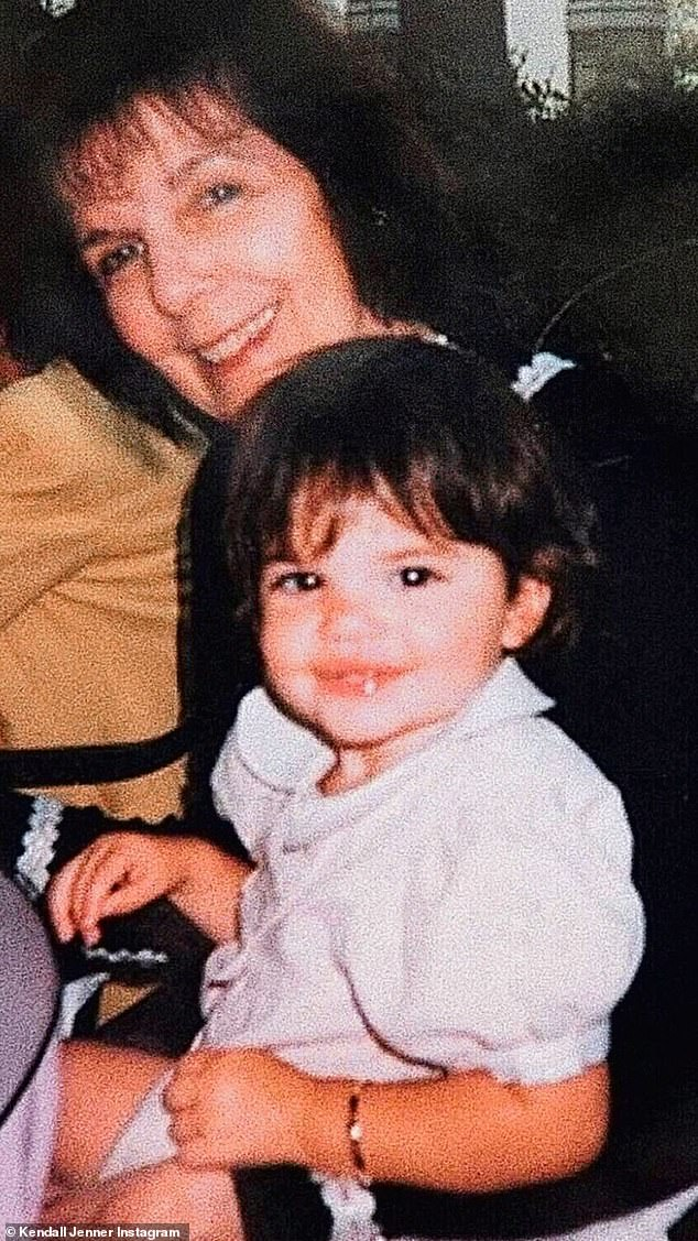 (Grand)Mother's Day: Kendall Jenner posted a snap of herself as a young child with her grandma MJ