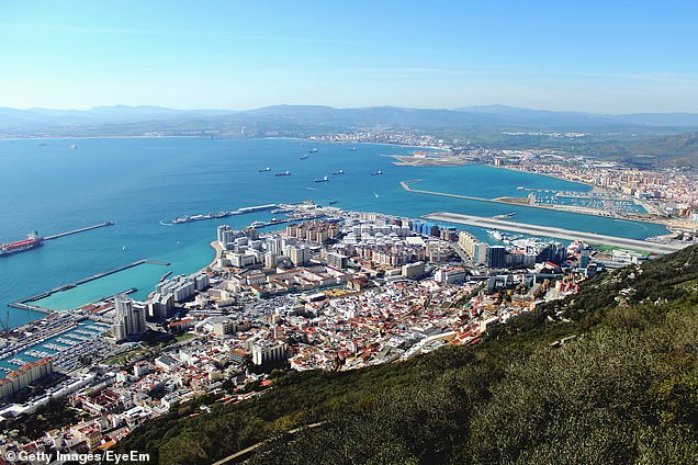 Gibraltar (file picture) will not require visitors from Britain to be tested or vaccinated
