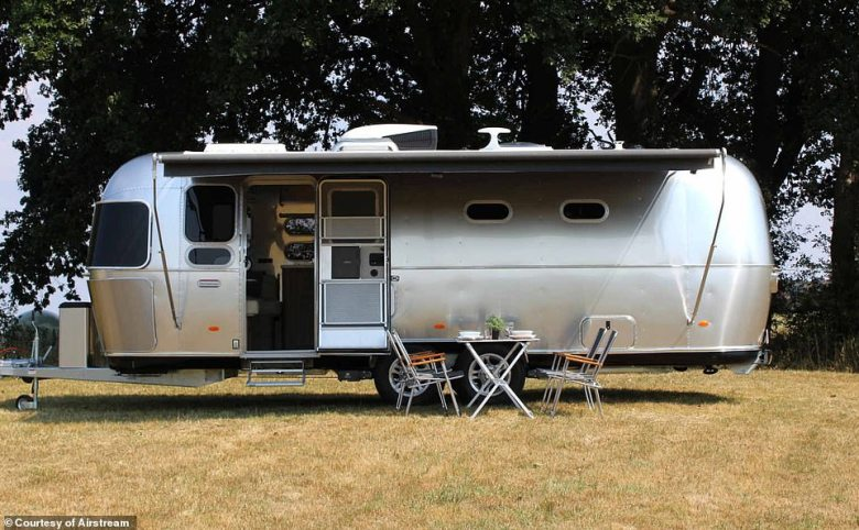 The US company Airstream has launched a new version of its 'silver bullet' caravan for the British market