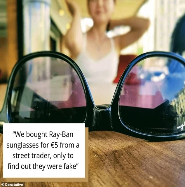 What were you expecting? Tourists in Europe were dismayed when an incredibly cheap pair of Ray-bans they bought for five euros turned out to be counterfeit