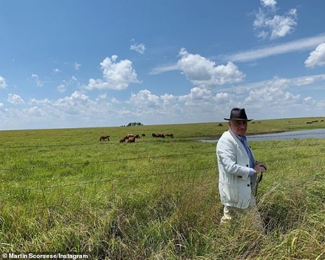 'Location scouting':Principal photography began April 19 in Oklahoma on the 78-year-old filmmaker's (pictured in 2019) big-screen adaptation of David Grann's 2017 non-fiction book and it will continue for seven months
