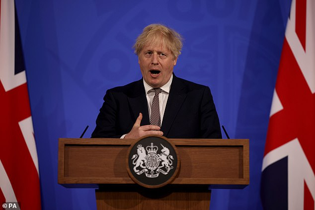 Prime Minister Boris Johnson confirmed on Monday theaters could accommodate up to 10,000 fans