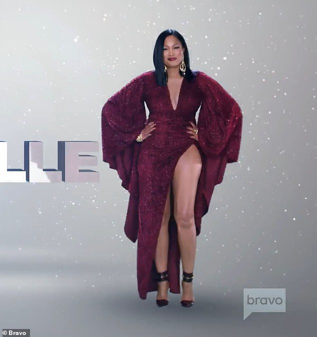`` If you want a starring role in my life you better ditch the act, '' says Garcelle Beauvais who looks amazing in a sparkly burgundy dress with a thigh slit
