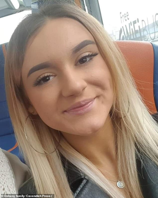 Victoria Doheny, 20, (pictured) took her own life on December 10 after hearing of her boyfriend's new relationship