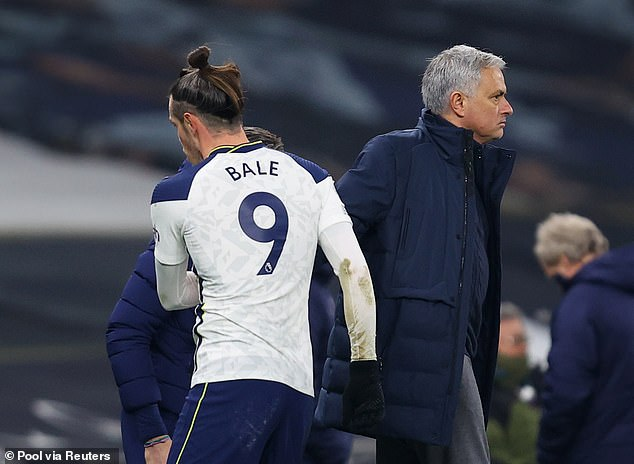Gareth Bale returned to Tottenham on loan from Real Madrid at the start of the season - but manager Jose Mourinho didn't entirely trust the Welsh star to perform